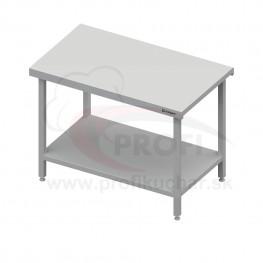 Neutrálny výdajný stôl s policou – 1500x710x880mm