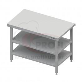 Neutrálný výdajný stôl s dvoma policami - 600x710x880mm