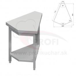 Neutrálný výdajný stoly rohový 45° - vnútorný – 697x800x880mm