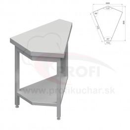 Neutrálný výdajný stoly rohový 45° - vonkajší – 697x800x880mm