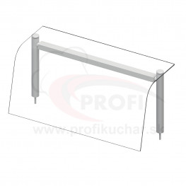 Nadstavba so sklenenou policou – neutrálne – 4x GN1/1