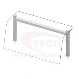 Nadstavba so sklenenou policou – LED osvetlenie – 4x GN1/1