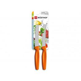 Wüsthof Nůž univerzální oranžový, sada 2 ks 9303o