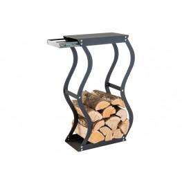 Zásobník na drevo Zigzag se zásuvkou
