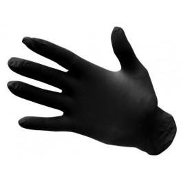 Nitrilové jednorázové rukavice nepúdrované - čierne