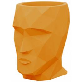 Kvetináč Adan Basic oranžová hlava 17x13x18 cm