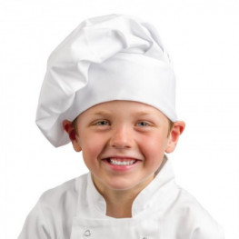 Vysoká kuchařská čepice DĚTSKÁ pro 6-10 leté - různé barvy