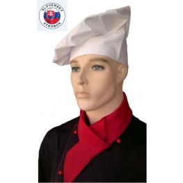 Vysoká kuchařská čepice - různé barvy