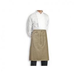 Kuchařská zástěra nízká, bez kapsy 100% bavlna - různé barvy