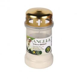 Náhrobná sviečka Angela 36HD biela, 35 h, 148 g, olejová