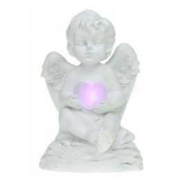 Anjel sediaci s LED srdcom