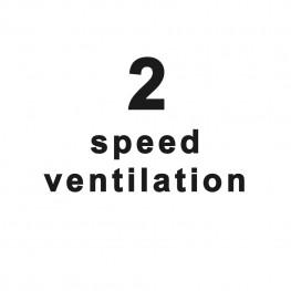 2 rýchlostný ventilátor