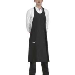 Barmanská zástera vysoká - čierna 100 % polyester