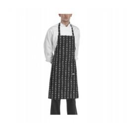 Kuchařská zástěra ke krku s kapsou - Chen - da