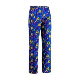 Kuchařské kalhoty SOVY, 100% bavlna