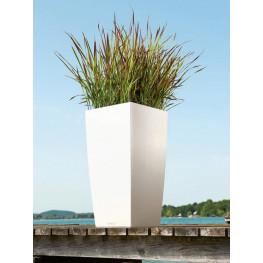Kvetináč Lechuza Cubico Trend 40/75 biela matná komplet set