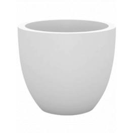 Kvetináč Cuenco Simple round plastový biely 60x52 cm