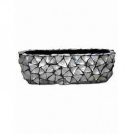 Shell Table Top Planter Mother of pearl silver-blue 60x15x18 cm
