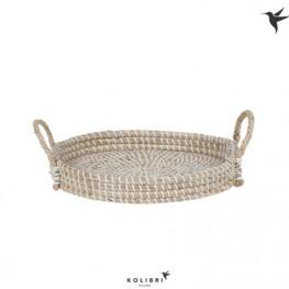 Dekoratívna pletená miska s uchami  Kolibri 30x5 cm