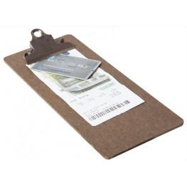 Dosky na účtenky so sponou, hnedá