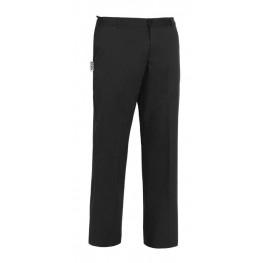 Kuchárske nohavice EVO, na gombík - čierne