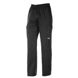 Kuchárske nohavice čierne - kapsáče