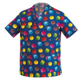 Kuchárska košeľa modrá - motív zmrzlina
