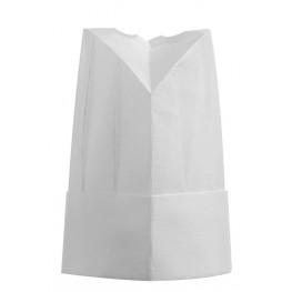 Papierová vysoká kuchárska čiapka