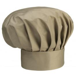 Vysoká kuchařská čepice - béžová
