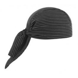 Kuchárska šatka na hlavu - jemné biele pásy