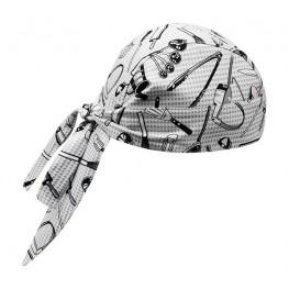 Kuchařská šátek na hlavu - vzor gastro nářadí