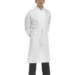 Kuchárska zástera nízka s vreckom - biela