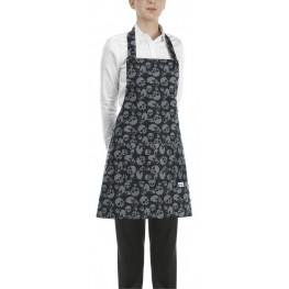 Kuchařská zástěra ke krku s kapsou DÁMSKA- smrtky