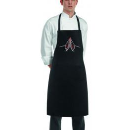 Kuchárska zástera ku krku s vreckom BIKER