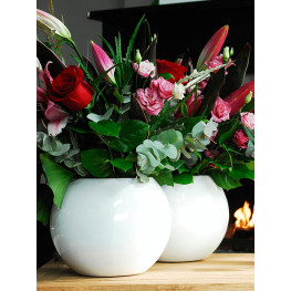 Fiberstone Glossy white beth S 31x25 cm
