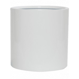 Kvetináč Fibestone puk biely lesklý 25x25 cm