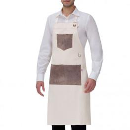 Vysoká kuchárska zástera Manchester White