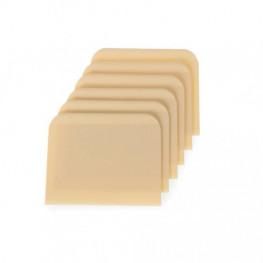 Plastové stierky – štvoruholné (6 ks)