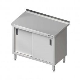 Pracovný stôl krytovaný - posuvné dvere 1600x700x850mm