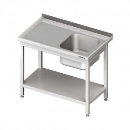 Umývací stôl s drezom - s policou 700x600x850mm