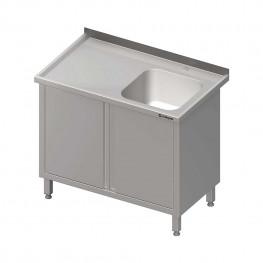 Umývací stôl krytovaný s drezom - krídlové dvere 1000x700x850mm