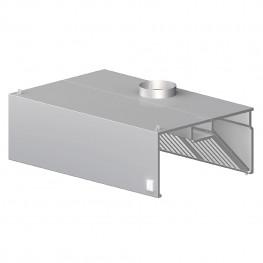 Nástenný odsávač pary - hranatý 2900x800x450mm