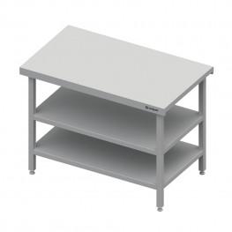 Neutrálný výdajný stôl s dvoma policami - 500x710x880mm