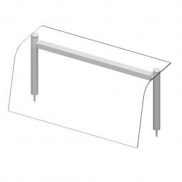 Nadstavba so sklenenou policou – LED osvetlenie – 2x GN1/1
