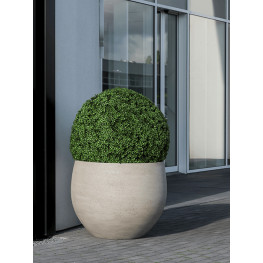 Kvetináč Urban Jumbo Orb S béžový 88x70 cm