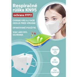 Respiračné rúška KN95,  ochrana FFP2