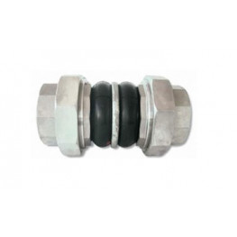 """HD - Pryžový kompenzátor dvojvlnový, K-FLEX, guma-EPDM, závitový, pozink, DN 25, F/F 1""""x1"""", PN 16, dĺžka 203 mm"""