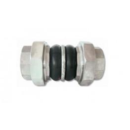 """HD - Pryžový kompenzátor dvojvlnový, K-FLEX, guma-EPDM, závitový, pozink, DN 50, F/F 2""""x2"""", PN 16, dĺžka 203 mm"""
