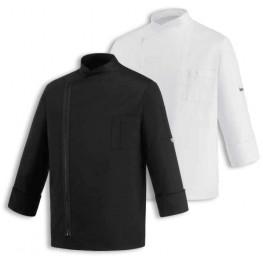 Kuchársky rondon ZIP (zapínanie na zips) - čierny/biely