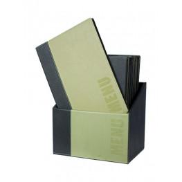 Box s jedálnymi lístkami TRENDY, zelená (20 ks)